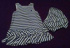Ralph Lauren Blue Striped Dress & Panties Baby Girl Size 6 Months Ralph Lauren #RalphLauren