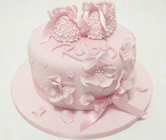 baby shoes cake by Emma Jayne Cake Design