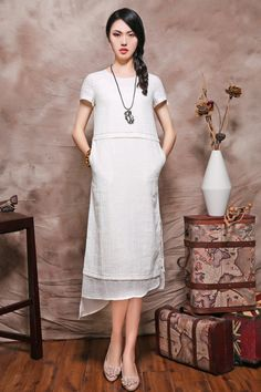 White Layered Dress Wedding Dress Gown  Summer by camelliatune
