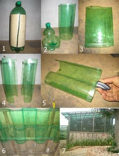 corrugated roof made with 2l plastic bottles