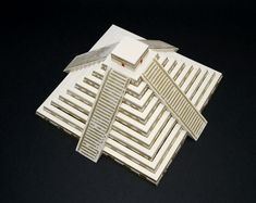El Castillo Mayan Pyramid of Kukulkan Paper Model (ASSEMBLED) with linocut printed details https://www.etsy.com/listing/117502775/el-castillo-mayan-pyramid-of-kukulkan