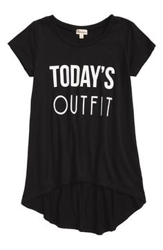 Ten Sixty Sherman 'Today's Outfit' High/Low Tee (Big Girls) available at #Nordstrom