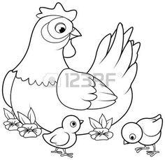 курица и цыплята рисунок: 15 тыс изображений найдено в Яндекс.Картинках