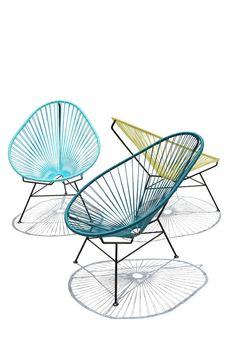 As an homage to the pacific resort of the the label OK Design brought the Acapulco Chair to the market. Characteristic for the Acapulco Chair by OK Desig Home Design Diy, Canapé Design, Deco Design, Chair Design, Furniture Design, Unique Furniture, Patio Design, Interior Design, Mexican Chairs