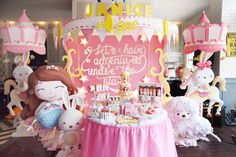 Party Setup from a Pink & Gold Twinkle Star Birthday Party via Kara's Party Ideas | KarasPartyIdeas.com (21)