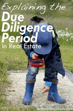 What happens after you go under contract? Due diligence! | mattminordurham.com @mattminordurham