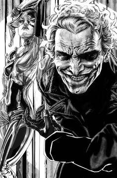 Joker & Harley Joker Drawings, Pencil Art Drawings, Character Drawing, Comic Character, Hero Tattoo, Scary Scarecrow, Joker Pics, Best Villains, Comic Drawing
