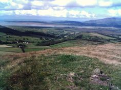 Gt Burney trig point looking over Duddon Sands, and Millom, and Haverigg. racj