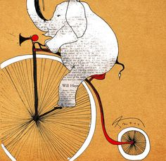 Ok... and elephant on a bike... nothin sweeter