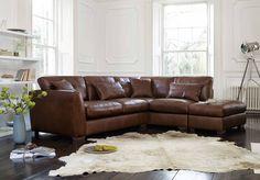LHF Corner Sofa with Footstool - Savannah - Gorgeous Living Room Furniture from Furniture Village