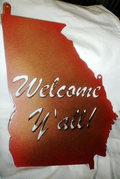 Georgia State Cutout Welcome Sign by ReedCreekWelding on Etsy, $17.00