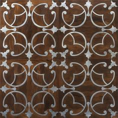 wood floor with metal inlay...gorgeous!