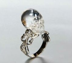 Crystal Skull Ring..♡♡♡♡                                                                                                                                                                                 More