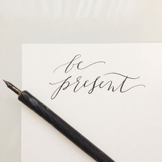 modern calligraphy by moirainkcalligraphy