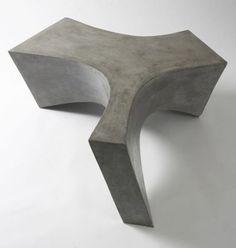Daniel Miese Designer creates a concrete table