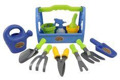 Little Garden Tool Box Toy Gardening Tools Set for Kids – Gardening Tools Modern Gardening Tools, Kids Gardening Set, Best Garden Tools, Garden Tool Shed, Garden Tool Storage, Organic Gardening, Garden Works, Modern Tools, Indoor Gardening