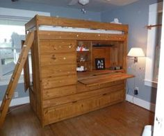 Bunk bed with storage, desk, and trundle Bunk Beds With Storage, Desk, Bedrooms, Furniture, Home Decor, Desktop, Decoration Home, Room Decor, Table Desk