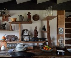 John-Paul Philippe turns neglected Connecticut barn into his home and studio Barn Style Doors, Two Storey House, Log Cabin Homes, Cabins, Wooden Decks, Living In New York, John Paul, Japanese Design, Rustic Interiors