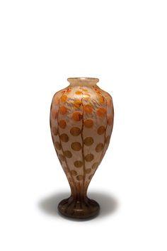 Lot 105A225 - 'Monnaie du Pape' vase, 1919-21 Schneider, Epinay-sur-Seine -> Auction 105A - Text: english Version