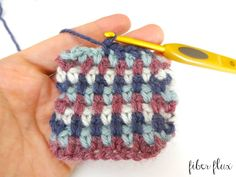 How To Crochet the Linen Stitch, photo and video tutorial on Fiber Flux ༺✿ƬⱤღ✿༻