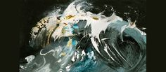 Maggi Hambling, curious Suffolk, striving to capture the essence of a wave