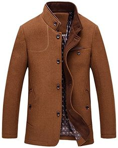 online shopping for chouyatou Men's Gentle Band Collar Single Breasted Standard Fit Wool Blend Peacoat from top store. See new offer for chouyatou Men's Gentle Band Collar Single Breasted Standard Fit Wool Blend Peacoat Men's Coats And Jackets, Long Jackets, Winter Jackets, Mens Wool Coats, Men's Wardrobe, Formal, Pea Coat, Single Breasted, Men Casual