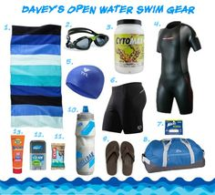 Davey's open water swim triathlon training gear   TwoTri.com