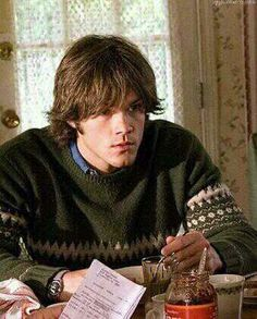 Young Jared Padalecki in The Christmas Cottage  So cute in his sweater    Jared Padalecki Christmas Cottage Gif