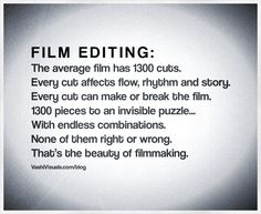 The screenplay has been written. The footage has been shot. What does the film editor do? #filmmaking
