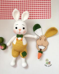 The latest amigurumi crochet patterns are waiting for you. Crochet Pattern Free, Crochet Animal Patterns, Crochet Patterns Amigurumi, Crochet Animals, Diy Crochet Toys, Bunny Crochet, Crochet Dolls, Baby Sewing Projects, Crochet Projects