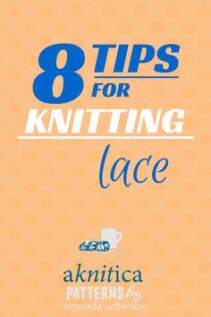 Knitting lace, helpful advise