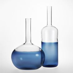 H2O Sapphire Vessel/ Sapphire Bottle #customdesigned & #handmade in NY for #charitywater Visit Nichemodern.com for more info ♥