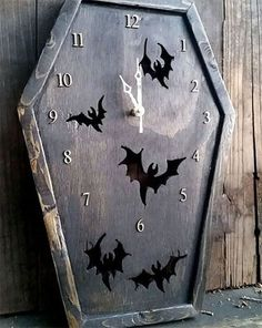 Hey, I found this really awesome Etsy listing at https://www.etsy.com/listing/290201307/coffin-clock-bat-clock-gothic-clock