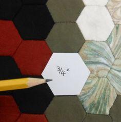 500 listo cortar plantillas de papel del hexágono por jackiewills