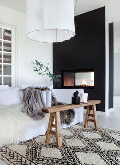 couleur noire, décoration, murs noirs
