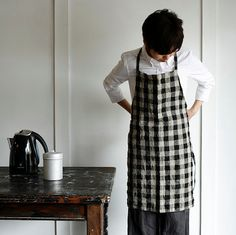 Yesterday's post Hotels, Lodging & Restaurants: Sis Deli + Cafe in Finland got us thinking about plaid and checks in the kitchen. New York's Elizabeth Street home boutique Haus Interior offer the Fog Linen line online, as does Horne, one of our favorite sources for the home.