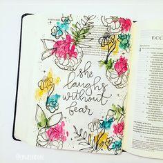 Bible Journaling watercolor, bible art journaling, journaling bible, illustrated faith