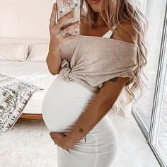 Maternity Casual Sundress Bodycon White Sleeveless – CutieppiesYou can find Maternity dresses and more on our website. White Maternity Dresses, Cute Maternity Outfits, Maternity Swimwear, Stylish Maternity, Maternity Pictures, Maternity Wear, Maternity Fashion, Maternity Looks, Casual Pregnancy Outfits