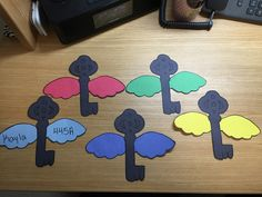 Harry Potter Door Decs! These are the flying keys from the Sorcerer's Stone