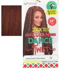 "Vivica Fox Cuban Dance Twist 24"" - Color 33 - Synthetic Braiding"