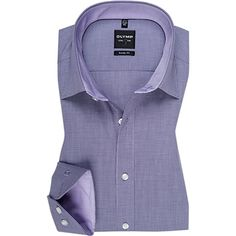 Olymp - New for Autumn 2014 - Olymp Purple Thin Check Shirt - Level Five Body Fit