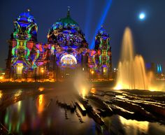 Festival of Lights, Berlin Cathedral, Berlin, Germany. What an awesome sight!