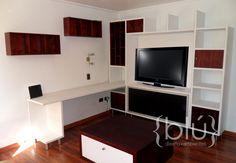 Mueble Sala de Estar para TV con escritorio
