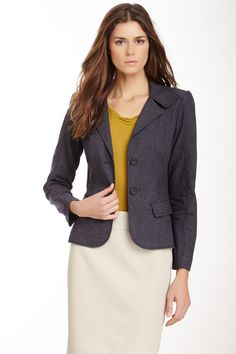Chambray Blazer by paperwhite Collections on @nordstrom_rack