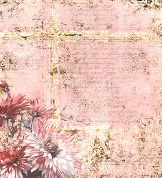When She Turned 40-Ish, Olivia gave up on scrapbooking. She would not have done that if she had seen this floral, grunge, pink from shabbycottagestudio.net!