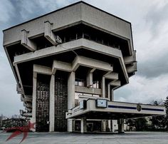 "Socialistmodernism: ""City Hall, Ruse, Bulgaria, built in 1985 http://architectureofdoom.tumblr.com/post/162081298718/socialistmodernism-city-hall-ruse-bulgaria"