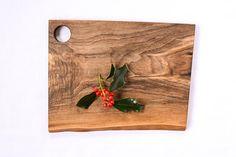 Wood Cutting Board, Natural Edge Salvaged Black Walnut by RedOnionWoodworks