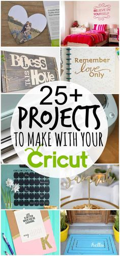 What Can I Make with My Cricut? Are you wondering what you can make with your Cricut? Check out these fabulous Cricut projects. What Can I Make with My Cricut? Are you wondering what you can make with your Cricut? Check out these fabulous Cricut projects. Diy Craft Projects, Cricut Projects To Sell, Cricut Tutorials, Fun Crafts, Cricut Project Ideas, Craft Ideas, Sewing Projects, Creative Crafts, Diy Crafts Hacks