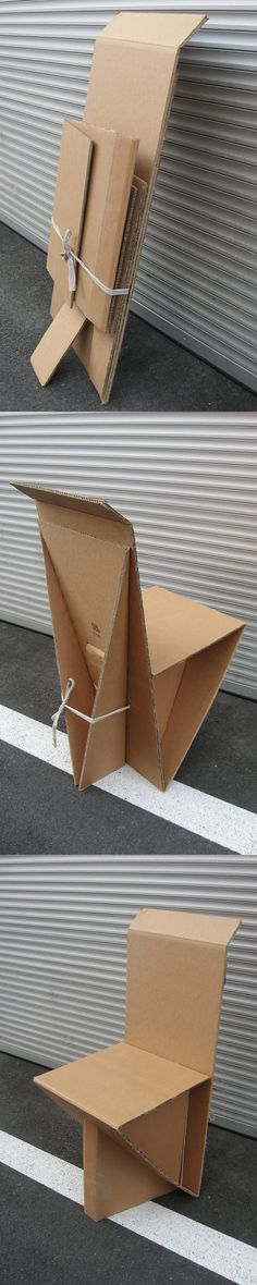 Innovative Design: Chair out of cardboard. Innovation Design, Container, Chair, Diy, Shopping, Bricolage, Diys, Chairs, Handyman Projects
