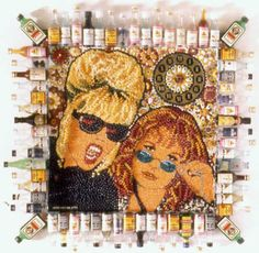 A mosaic made up beans and booze? It's Absolutely Fabulous!